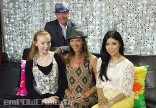 Castle's Molly Quinn & Luke Reichle with Jenny Wu & Allana Pratt