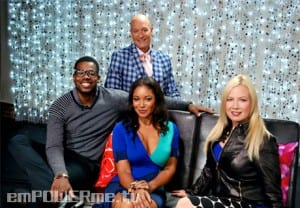 Traci Lords, Tamala Jones, Chris Mannor, and Luke Reichle Throw Down in Post Show Chat Photo
