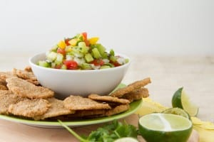 HealthfulPursuit.com Corn-Free Tortilla Chips and Summer Salsa