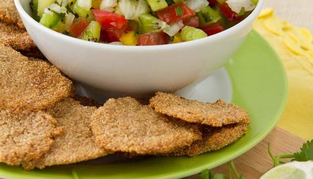 Nicole Gil tries HealthfulPursuit.com Corn-Free Tortilla Chips and Summer Salsa