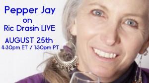 Pepper Jay on Ric Drasin Live! Photo